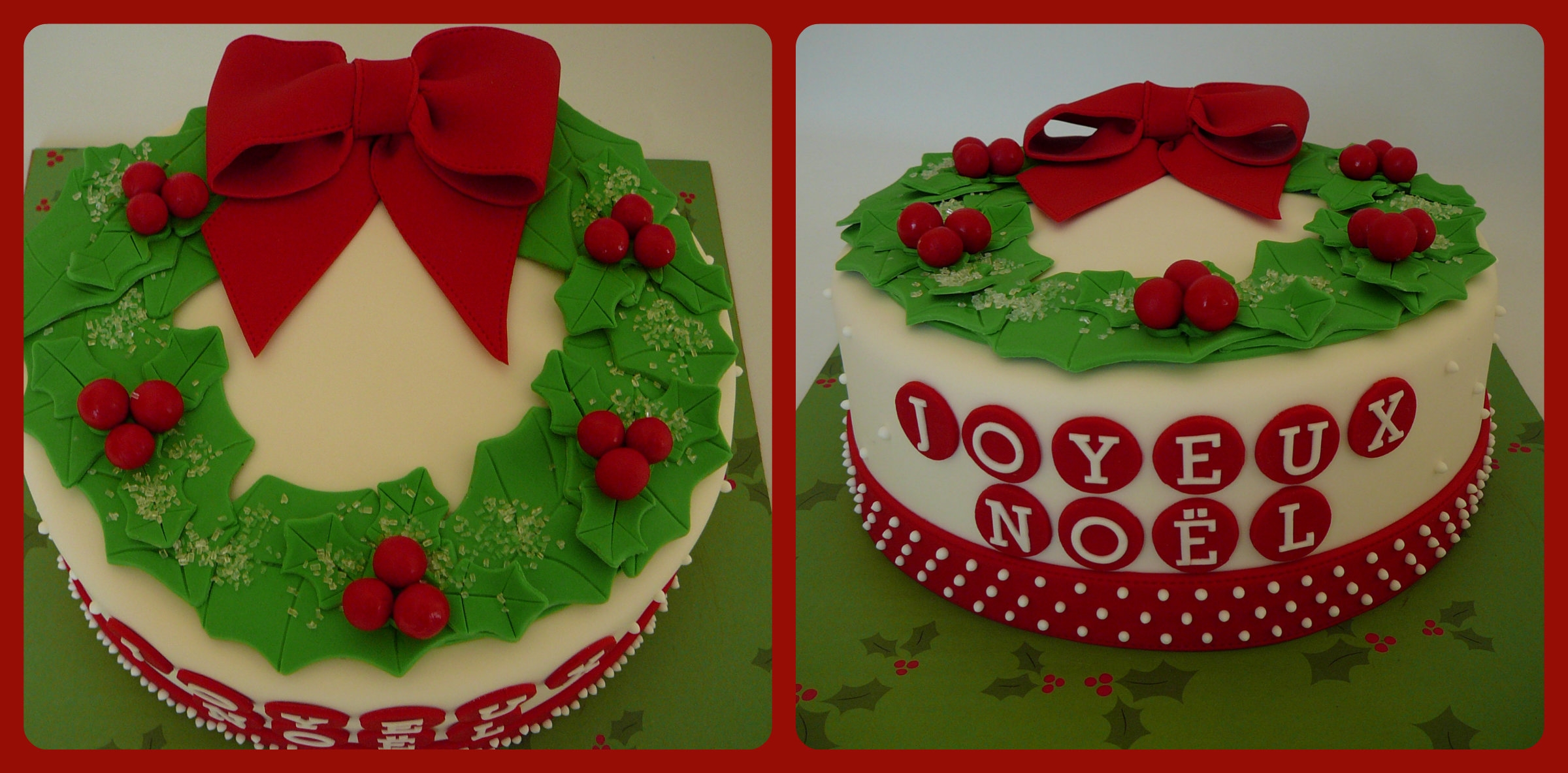 Christmas Wreath on Cake Central