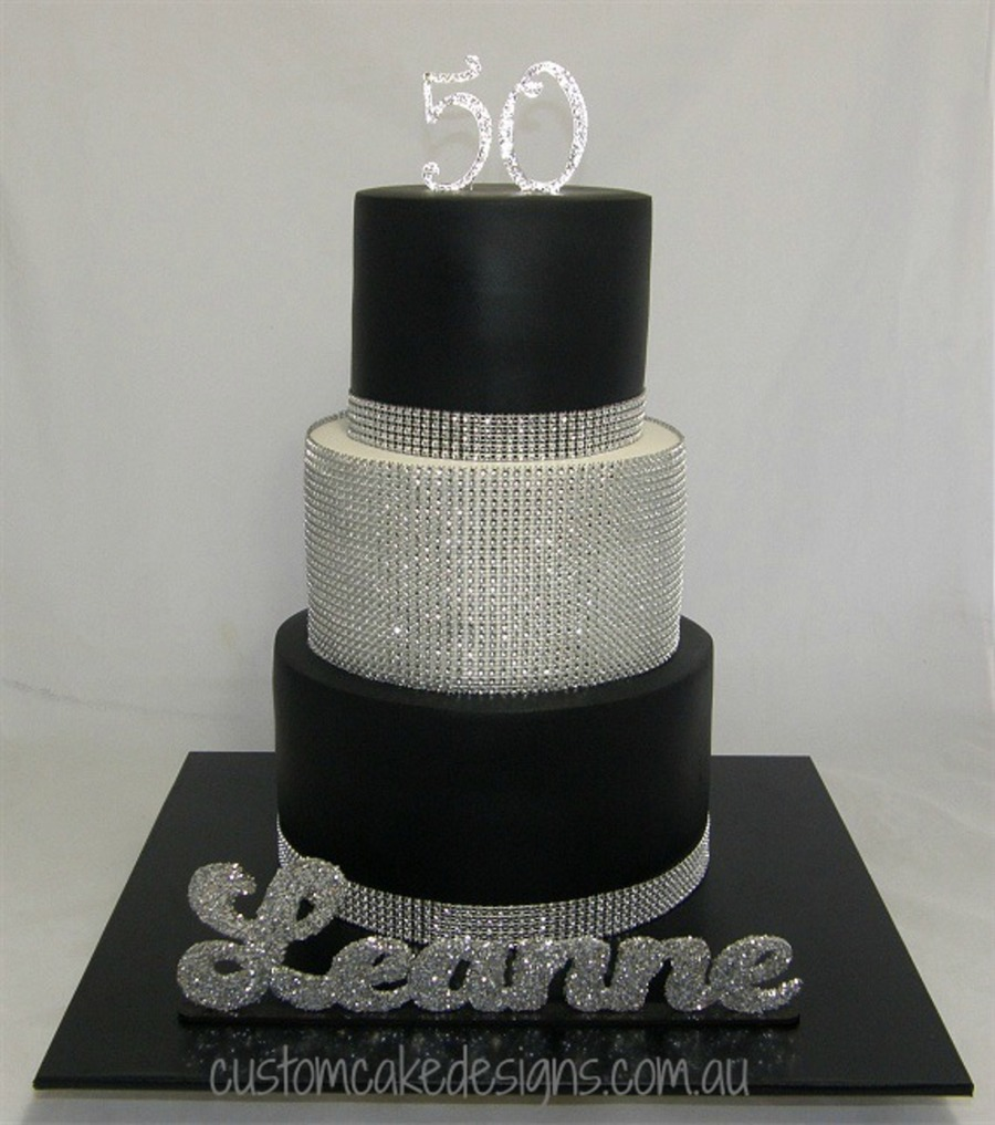 Bling 50th Cake Cakecentral Com
