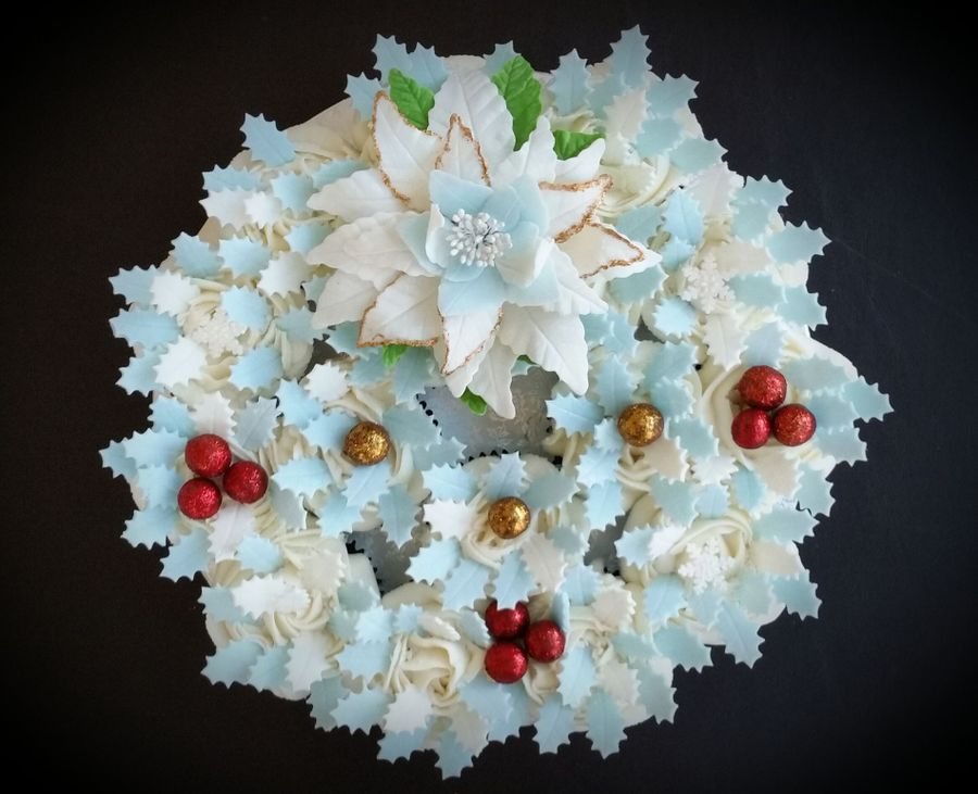 Christmas Wreath Cake Decorating