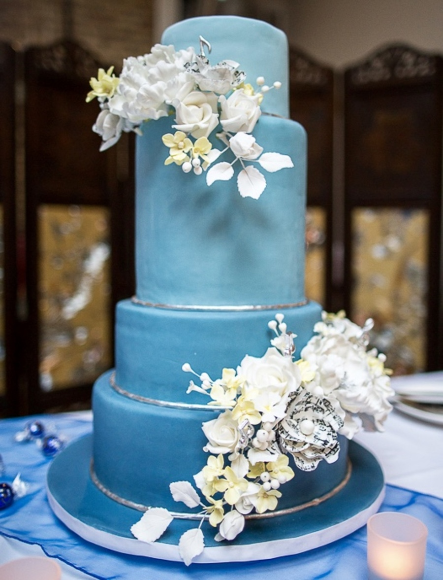 blue themed wedding cakes ombre blue wedding cake cakecentral 12008