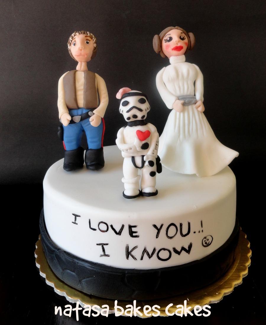 Star War Unique Wedding Cake: Star Wars Wedding Anniversary Cake