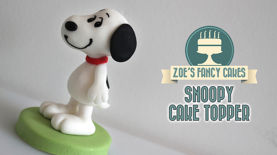 Snoopy Cake Topper Tutorial