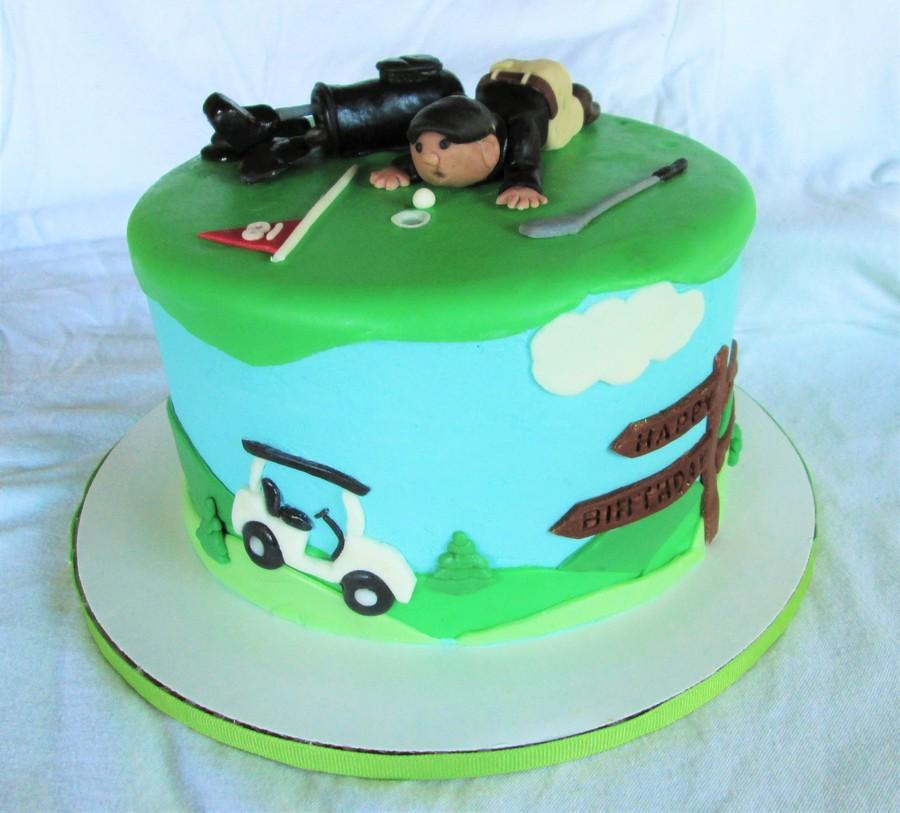 Golfers Birthday Cake CakeCentralcom