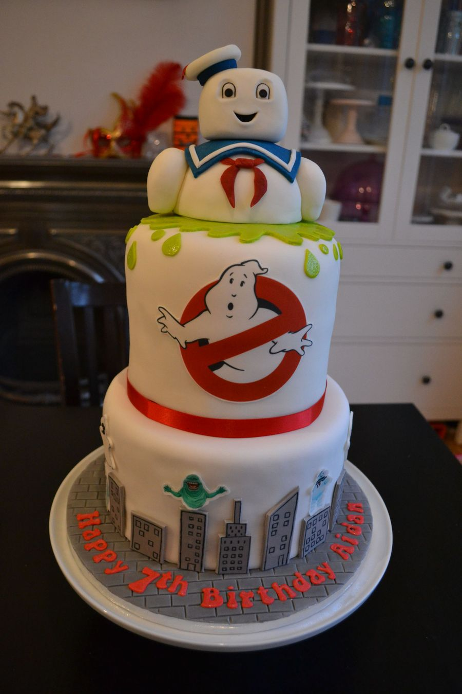 Ghostbusters Stay Puft Cake Cakecentral Com