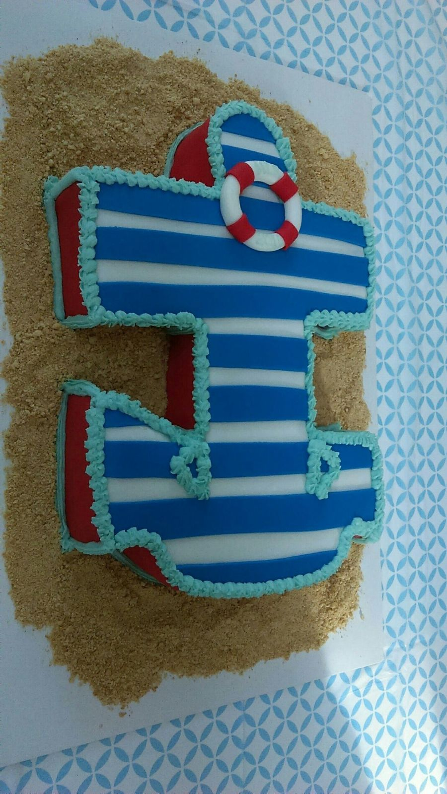 Anchors Away Baby Shower Cake on Cake Central
