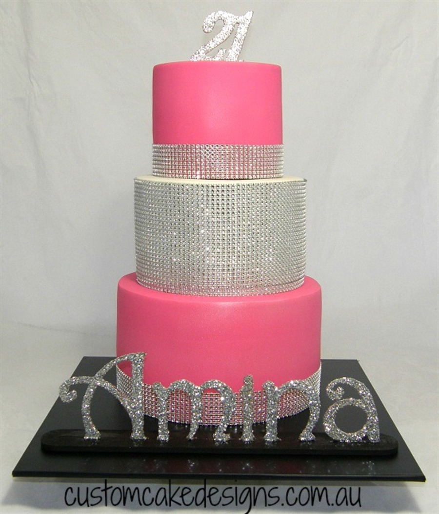 Pink St Birthday Cake