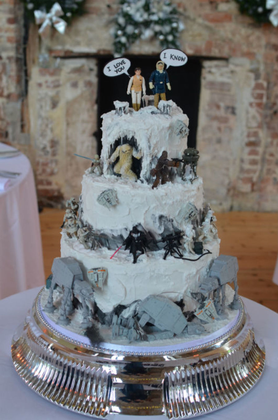 star wars wedding cake ideas wars quot battle of hoth quot wedding cake models supplied by 20506