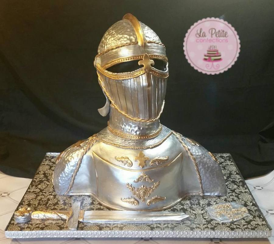 Knight In Shining Armor Bust Cake Cakecentral Com
