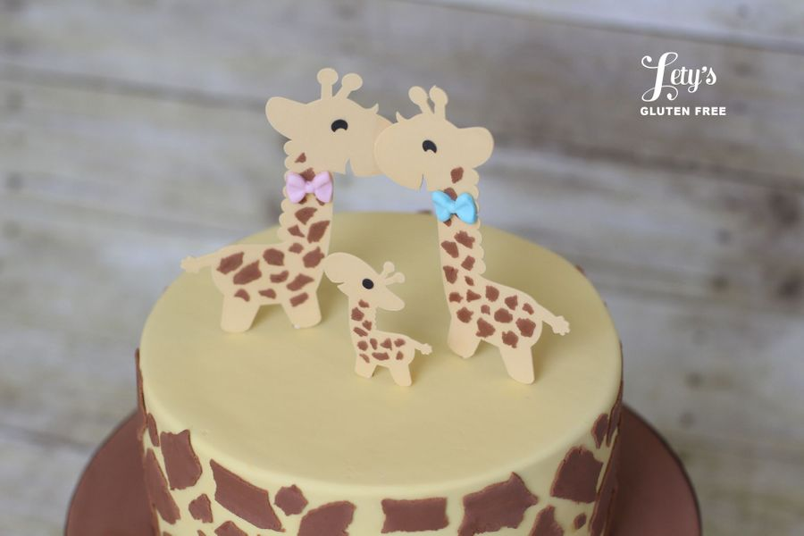 Close Up Of Giraffe Baby Shower Cake on Cake Central