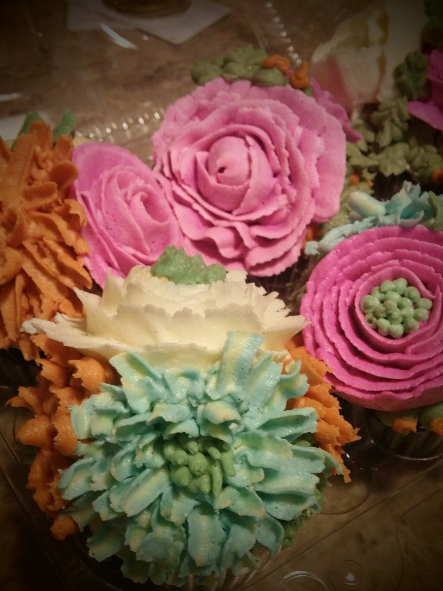 Buttercream Flower Cupcakes on Cake Central