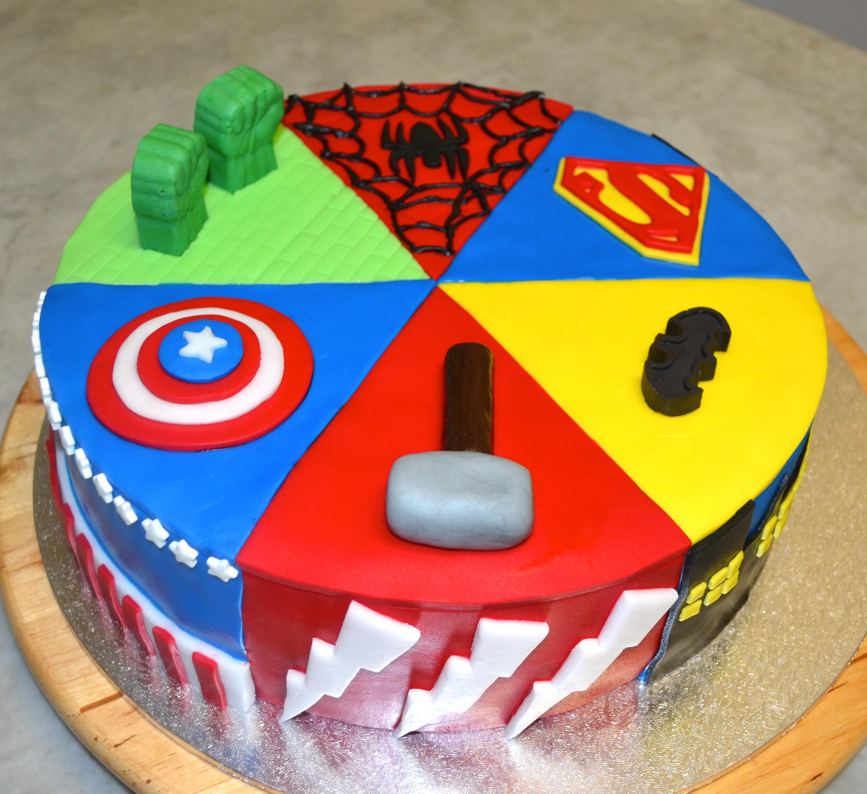 Superhero Cake CakeCentral