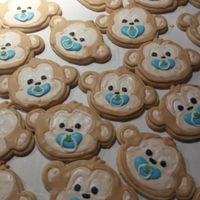 Monkey Baby Shower Cookies!   NFSC recipe with royal icing