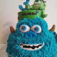 Monsters Inc Cake   buttercream monsters inc cake