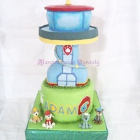 Paw Patrol Tower Cake paw patrol tower cake
