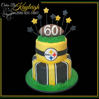 Steelers Birthday Cake This was a cake I designed for a client that was throwing her husband a surprise birthday party.