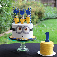 Naked Minions! This was such a fun little cake to make. This original design is from Pirikos Cake Design! My customer sent me a pic and I made some minor...