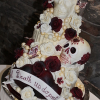 Halloween Wedding Cake This design was inspired by the famous one that has adorned our pages over last yr or so and a big thankyou to that person x . the bride...