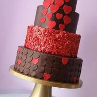Love Is In The Air Valentines chocolate and red cake