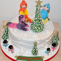 Christmas Cake This a 12inch rich fruit cake I made for a raffle for Deaf and Speech and Language Needs pupils. Money raised will allow specialist...