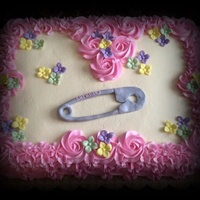 Welcome Baby Serenity WASC cake w/ buttercream