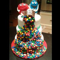 M& M 's Cake M&m Cake 3 tiers with a lot of M & M