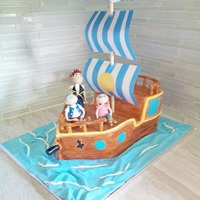 Jake And Neverland Pirates   jake ship cake