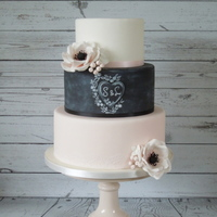 Romantic Chalkboard Weddingcake Romantic Chalkboard Weddingcake