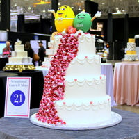 Mr&mrs Wedding Cake! Created as a dummy cake to showcase the whimsical side of wedding cakes. Why be boring? ;)