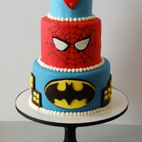 Superhero Birthday Cake 3 tier ( 8,6,4 inch) Superhero cake
