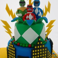 Power Rangers Fun cake made for some cute twin boys' 5th birthday!