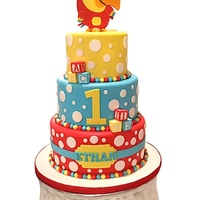 Vocabularry First Birthday Cake VocabuLarry First birthday cake. He can be seen on BabyTv.