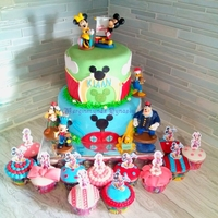 Mickey Mouse 2 tier mickey mouse clubhouse cake