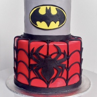 Batman And Superman Birthday Cake Batman and Superman Birthday Cake