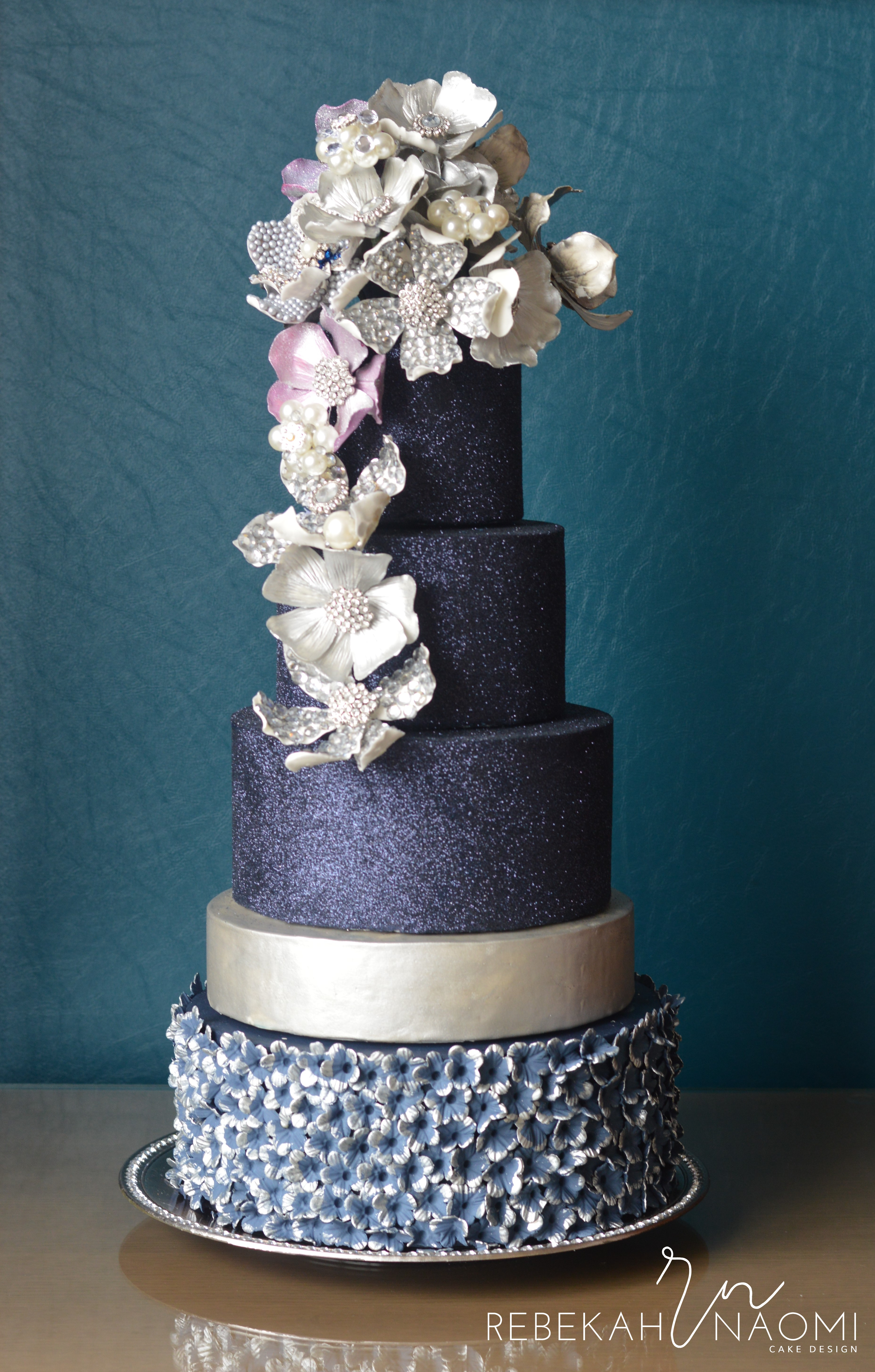 Bejeweled Cake For American Cake Decorating This cake was a commission for American Cake Decorating magazine for their January/February Trends issue. The cake features jeweled flowers...