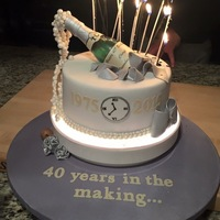 40 Years In The Making  This was made for my best friend who turned 40 on New Years Eve. She requested a cake that would highlight both her milestone birthday and...