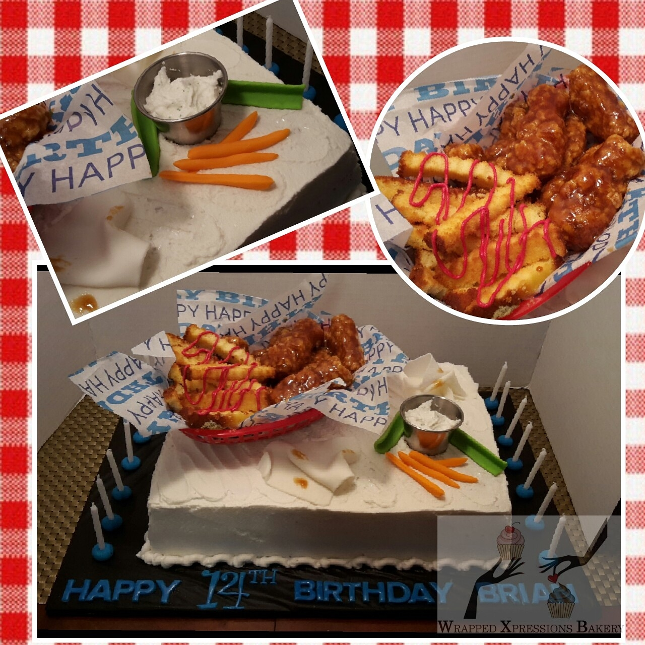 Chicken Wings And Fries Birthday Cake Chicken Wings and Fries Birthday cake