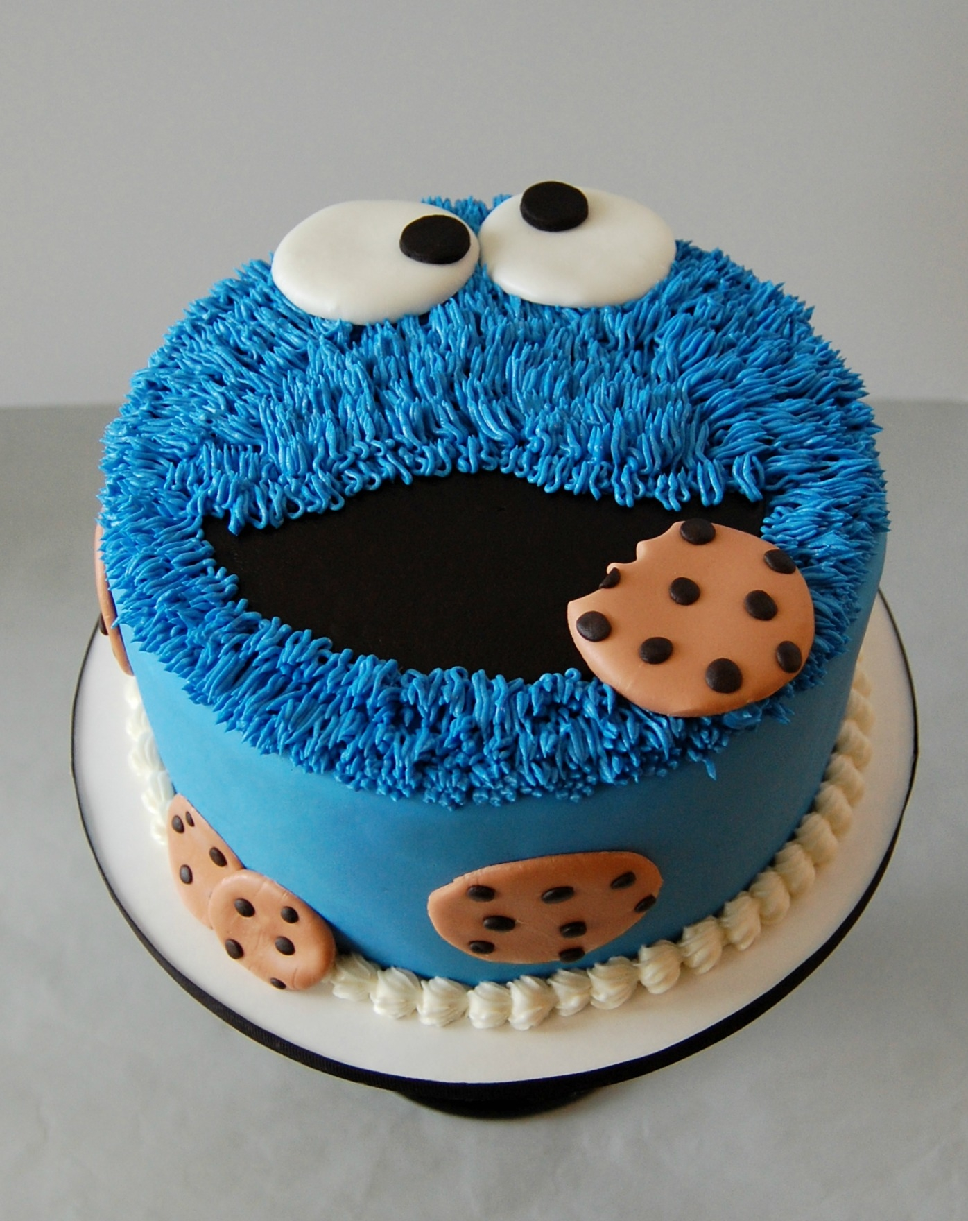 Cookie Monster Cake 1 tier 8 inch Cookie Monster cake