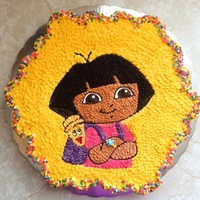 Dora The Explorer Pull Apart Cake I made this cake por a Birthday party. The idea was to use the Wilton mold, but was too small, so i just used the image. Chocolate and...
