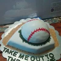 Base Cake   another cake we made for a baseball fundraiser