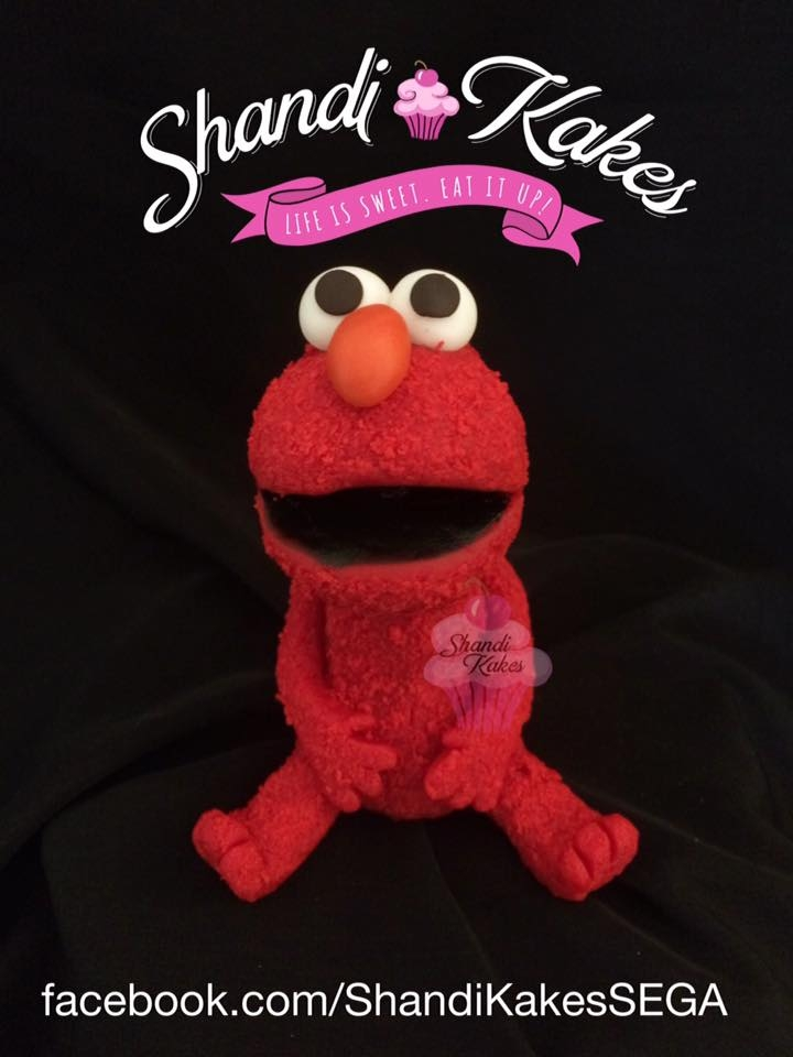 """elmo"" Cake Topper   handmade with gumpaste/fondant. 4"" tall."