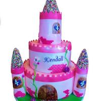 Princess 4Th Birthday Cake Marble cake with vanilla buttercream