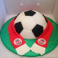 Football Scarf Cake Liverpool fc cake for my sons football themed birthday party