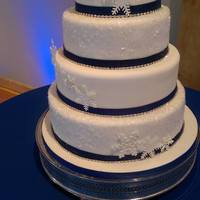 Snowflake Wedding Cake   Snowflake wedding cake