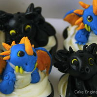 How To Train Your Dragon Cupcakes Fondant dragons from How to Train Your Dragon
