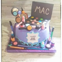 Mac Make Up Cake   mac make up cake