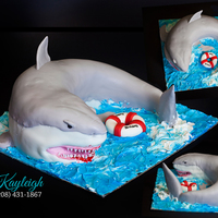 3D Shark Cake This is a very old photo, and I had done it just after figuring out how to use fondant, but it is just too fun not to post. :)