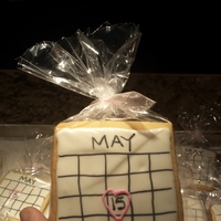 Baby Shower Cookies! NFSC recipe with royal icing and edible marker for the calendar