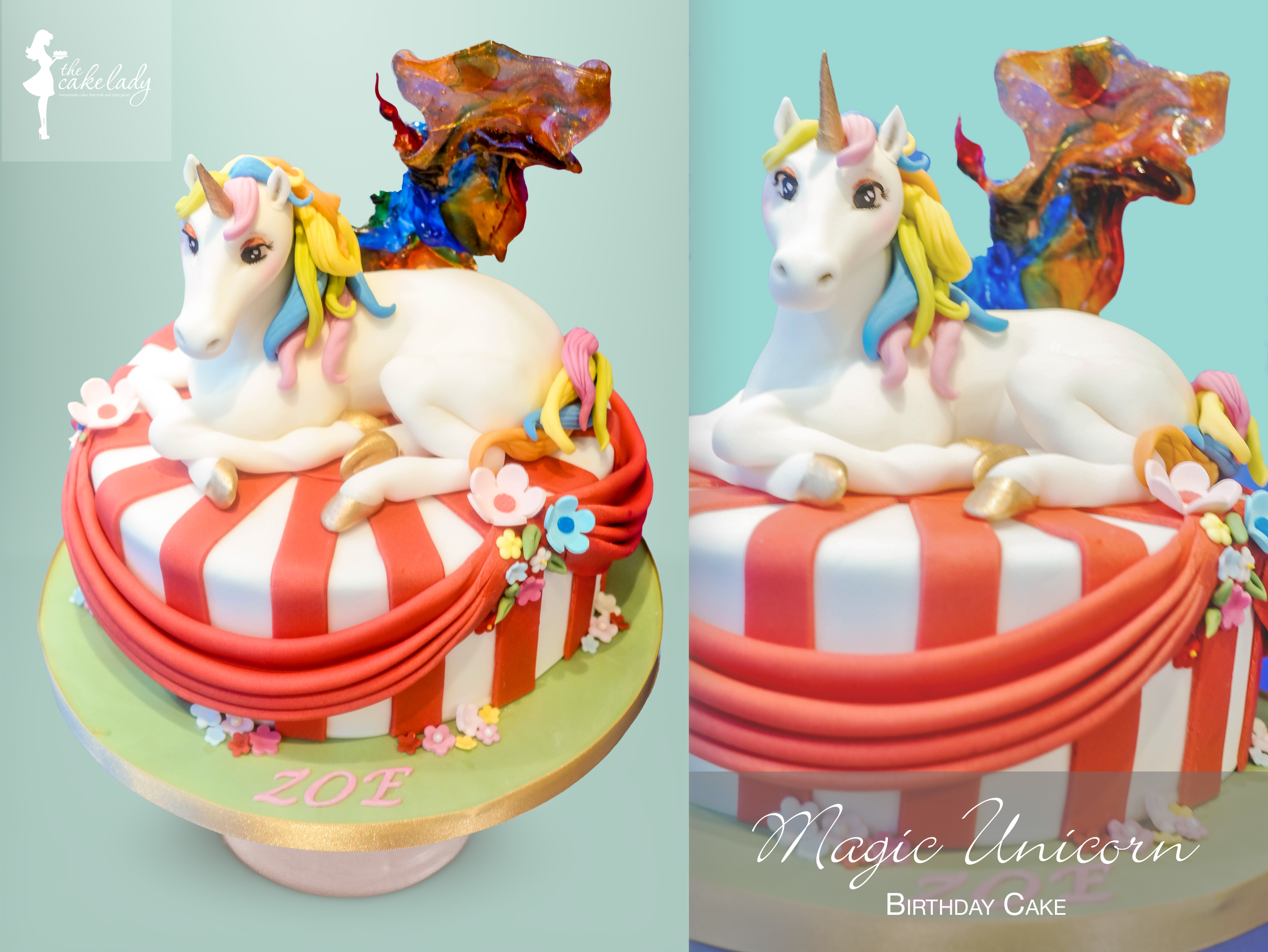 Magic Rainbow Unicorn I love adding an element of wow to our cakes. I love Unicorns!