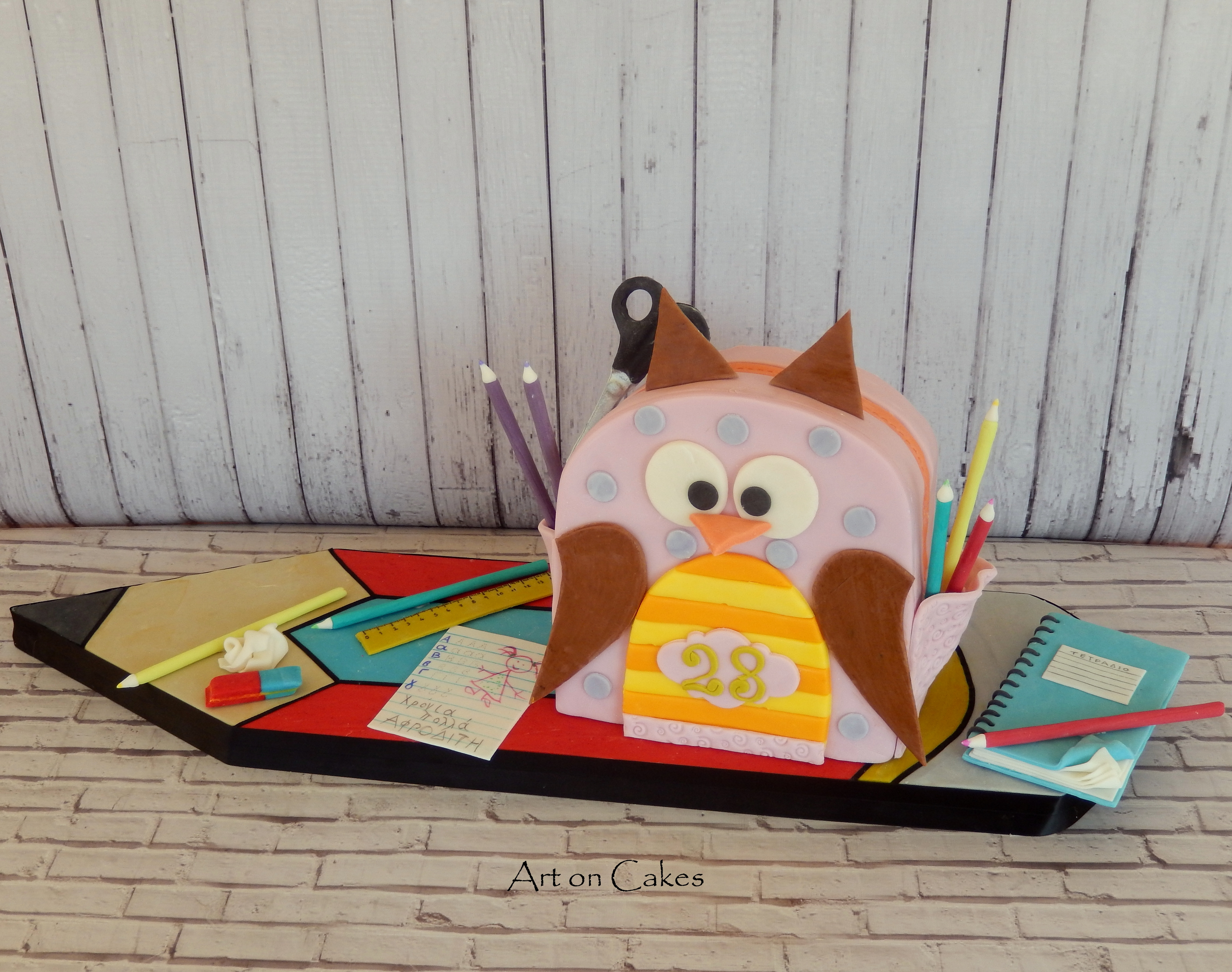 School Bag Cake All edible...