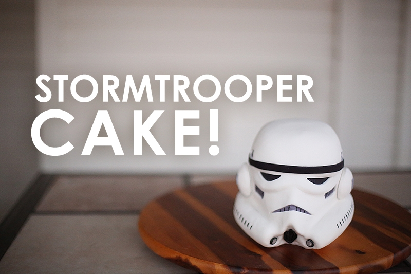 Stormtrooper Cake Almond cake, all edible.
